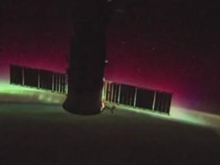 Les aurores boréales vues depuis la Station spatiale internationale