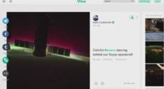 Des aurores boréales vues depuis l'ISS et partagées sur Vine.