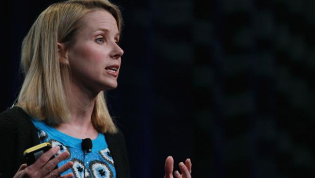 La nouvelle patrone de Yahoo ! Marissa Mayer, ici en septembre 2008 lors d'une présentation d'un nouveau produit Google.