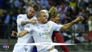Les joueurs du Real, dieux du football européen célèbrent leur victoire