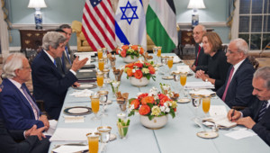 Reprise des négociations israélo-palestiniennes sous l'égide des Etats-Unis, 29/7/13