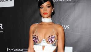 Rihanna au gala de l'amfAR à Los Angeles le 29 octobre 2014.
