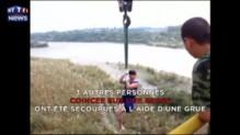 Inondations en Chine : six personnes prises au piège, les images des sauvetages