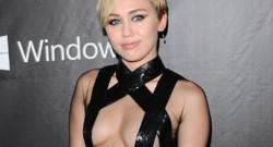 Miley Cyrus au gala de l'amfAR à Los Angeles le 29 octobre 2014.