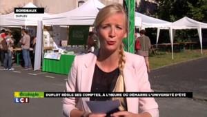 """Université d'été EELV : Cécile Duflot """"ravive les tensions au sein de son parti"""""""