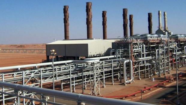 Le site BP dans le centre-est de l'Algérie où a eu lieu une attaque d'islamistes.