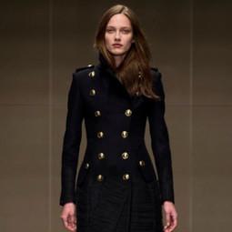 manteau femme officier court,Manteaux femme style officier