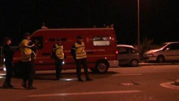 Les forces de l'ordre déployées devant la prison de Varces-Grenoble après le meurtre d'un détenu (28 septembre 2008)