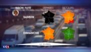 Bison Futé : journée noire dans le sens des départs, orange pour les retours