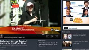 Capture d'écran ABC : interview de Jaycee Dugard, diffusée le 5 mars 2010