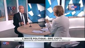 """Ciotti : """"Il faut taper la CGT au portefeuille"""" pour réparer les dégâts lors des manifestations"""