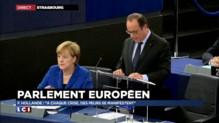 """Hollande devant le Parlement européen : """"Pas d'autre solution qu'une Europe forte"""""""