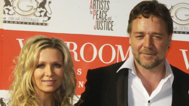 Russel Crowe et son épouse VIP Room Festival de Cannes 2010