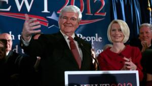 Newt Gingrich le soir de la primaire républicaine en Caroline du Sud (21 janvier 2012)