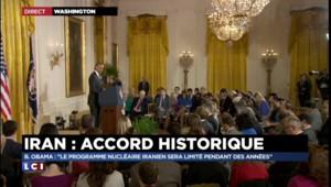 """Nucléaire iranien : Obama salue """"le régime le plus intrusif et le plus complet jamais négocié"""""""