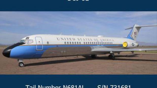 Photo tirée du site GSA Auctions, des services généraux américains, qui mettent en vente un ancien appareil de la flotte présidentielle.