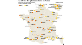 Rythmes scolaires : infographie actualise au 27 mars 2013