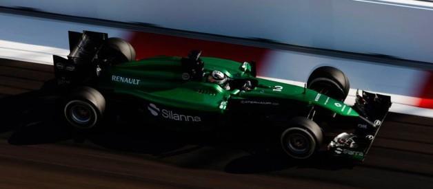Le Japonais Kamui Kobayashi (Caterham F1) lors du Grand Prix de Russie qui s'est déroulé à Sotchi le 12 octobre 2014.