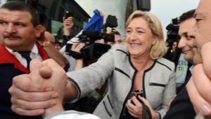 Le Pen et Philippot à Forbach, en Moselle le 22 mai 2012.