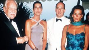 Rainier III Albert II Stéphanie et Caroline de Monaco