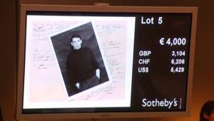 Souvenirs de Jacques Brel mis aux enchères chez Sotheby's (8 octobre 2008)