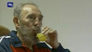 TF1/LCI : Image de Fidel Castro diffusée à la télévision cubaine, le 30 janvier 2007