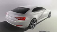 Skoda Superb, troisième génération en dessin prévue pour mi-2015.