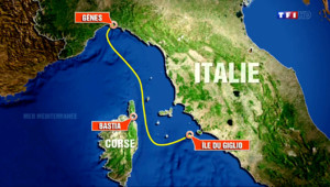 Le 13 heures du 24 juillet 2014 : Le Costa Concordia passe pr�de la Corse - 313.55649981689453
