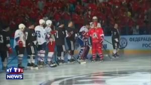 Lors d'un match de hockey, Poutine marque un moment de silence pour les morts de l'est de l'Ukraine