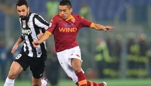 Marquinhos, sous le maillot de son ancien club, l'AS Roma.