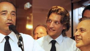Jean Sarkozy et Jean-François Copé à Neuilly