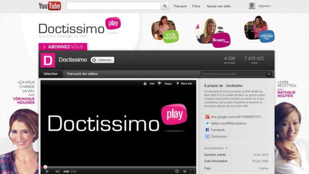 La chaîne Doctissimo sur YouTube