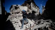 La ville d'Amatrice a été partiellement détruite par le tremblement de terre.