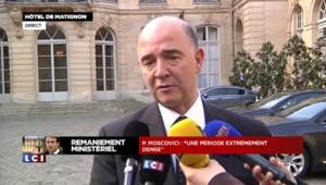"""Moscovici : """"Je resterai un acteur de la vie publique"""""""