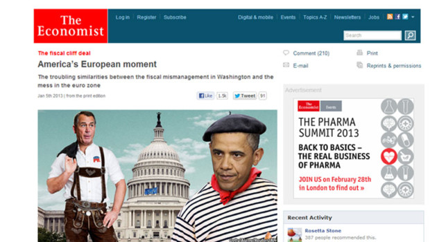 Obama en Une de The Economist