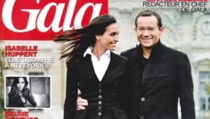 Couverture du magazine Gala du 18 novembre 2009 avec Jean-Luc Delarue et Inès Sastre.