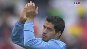 Luis Suarez a ouvert le score du match Uruguay-Angleterre