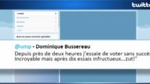 Tweet de Dominique Bussereau critiquant le bug lors de l'élection à l'UMP, 28/11/14