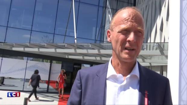 """Inauguration du nouveau siège social d'Airbus: """"La Grande-Bretagne reste membre d'Airbus"""" selon son PDG Thomas Enders"""