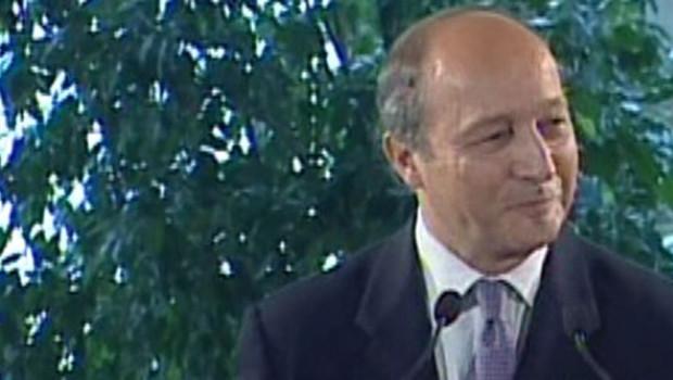 Laurent Fabius lors de son discours de Fleurance le 1er octobre