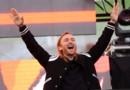 David Guetta lors d'un concert à Los Angeles, le 9 mai 2015.