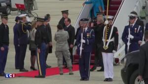 François Hollande à Washington : les images de son arrivée