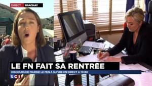 Front national : Marine Le Pen fait sa rentrée à Brachay