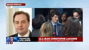 """Intervention de Hollande sur TF1 : """"Quel ennui !"""", selon Jean-Christophe Lagarde"""