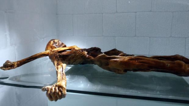 La momie Otzi découvert en 1991 dans les Alpes Tyroliennes