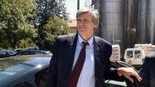 Stéphane Le Foll en visite dans l'Aude le jeudi 17 juillet 2014.