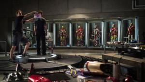 Sur le tournage du film Iron Man 3 de Shane Black avec Robert Downey Jr.