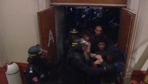Evacuation de la fac de Lyon 2, le 15 novembre 2007