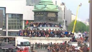 Place de la Bastille, le 6 mai 2012.