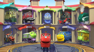 les 3 trains dans Chuggington 